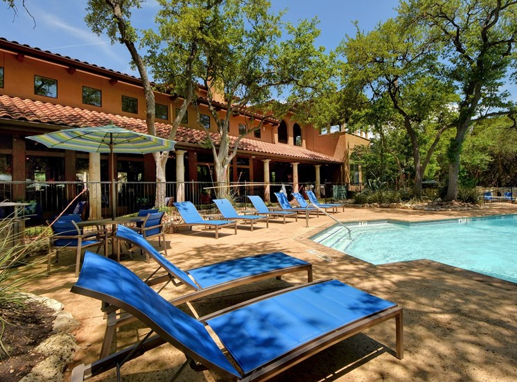 Pool Chairs at Nalle Woods Apartments in Austin, Texas
