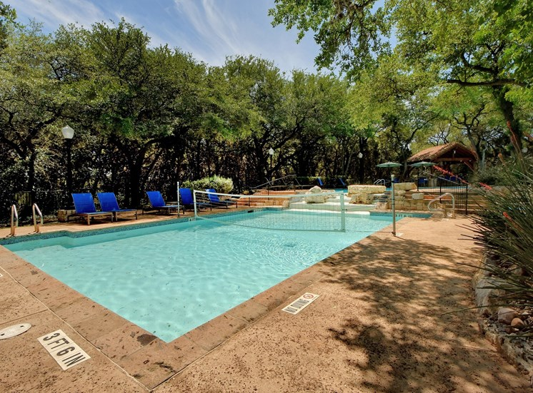 Pool Volleyball at Nalle Woods Apartments in Austin, Texas