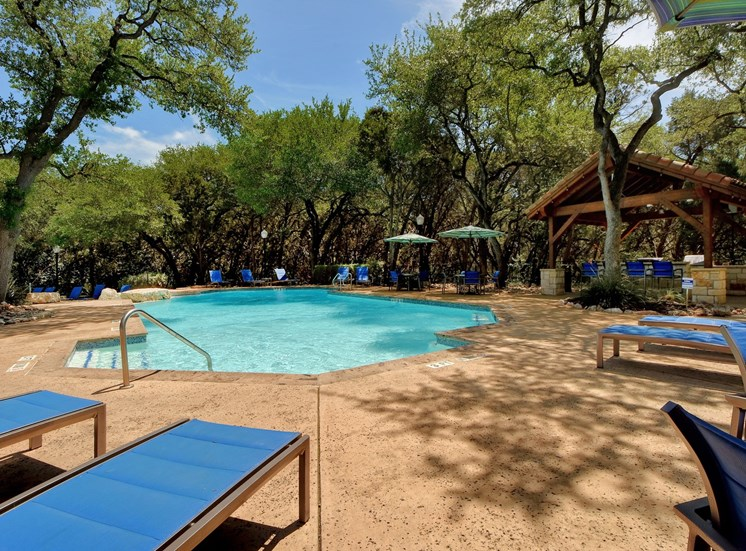 Poolside Views at Nalle Woods Apartments in Austin, Texas