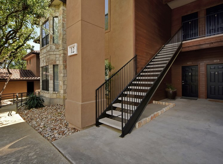 Stairs at Nalle Woods Apartments in Austin, Texas