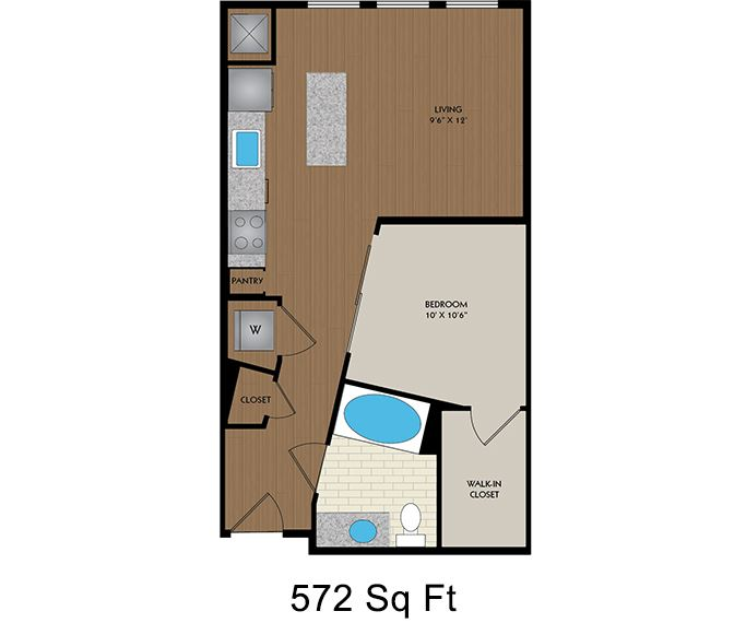 District at Memorial - Houston, TX - Curie floor plan