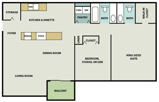 Heritage Village Full Basement (Basement serves as living space in select units) Floor Plan 4