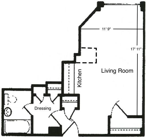 Studio Unit A1 Floor Plan 1