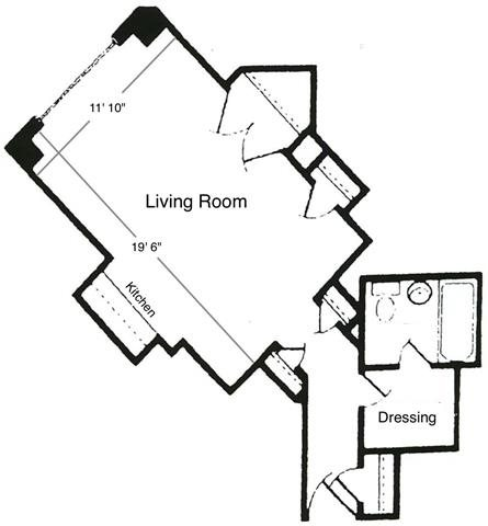 Studio Unit A4 Floor Plan 4