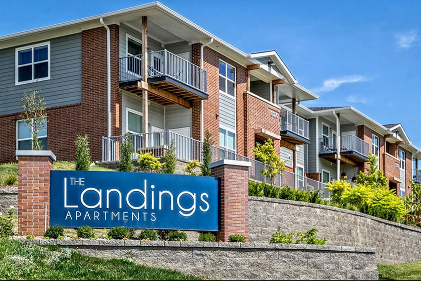 Community Outside View and Signage at Landings Apartments, The, 10215 Cape Cod Landing, Bellevue, 68123