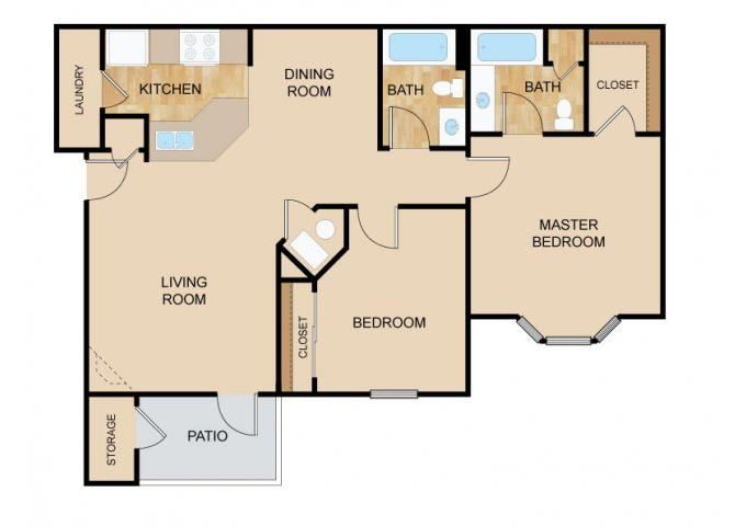 The Ridge Floor Plan, at The Vue, 2882 Comstock, NE 68123