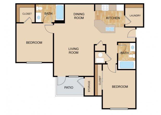 Horizon Floor Plan, at The Vue, 2882 Comstock, Bellevue, 68123