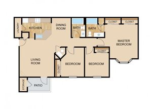 The Valley Floor Plan, at The Vue, Bellevue, NE 68123