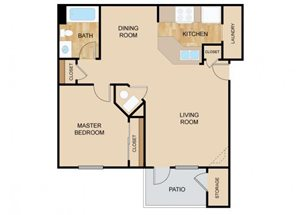 The Vista Floor Plan, at The Vue, 2882 Comstock, Bellevue, Nebraska
