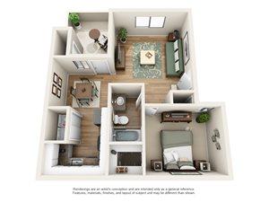 Heritage Pointe Apartment Homes - 1 Bedroom 1 Bath Apartment