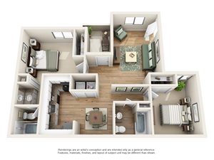 Heritage Pointe Apartment Homes - 2 Bedroom 2 Bath Apartment