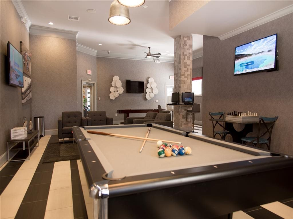 billiards room in clubhouse