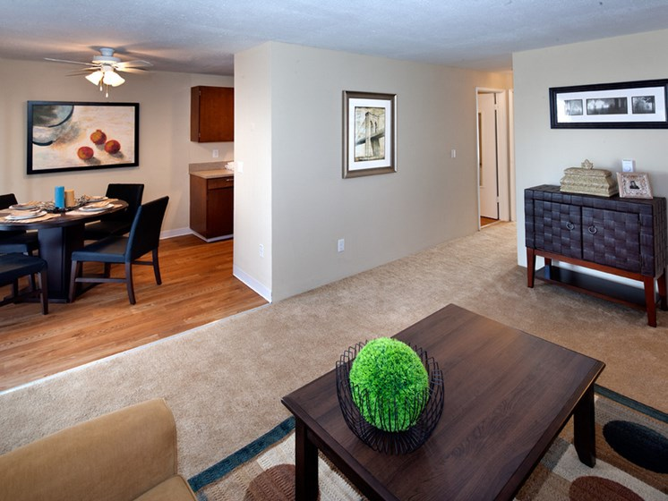 living room area at Central Pointe Apartments in Boise ID
