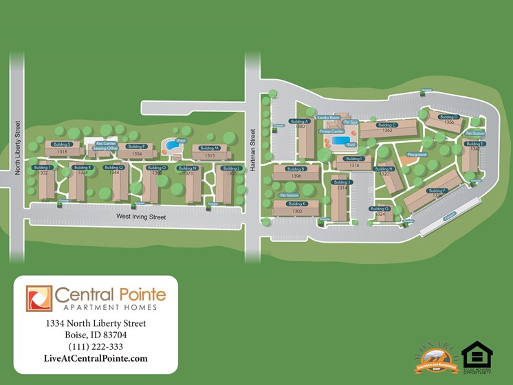 Property Map at Central Pointe Apartments in Boise ID