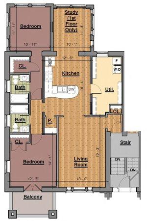 2 Bedroom (1W)