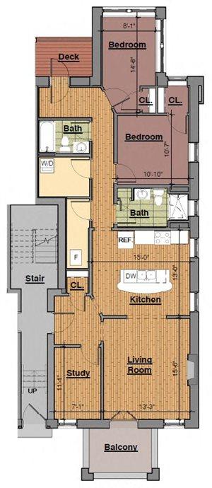 2 Bedroom (1st Floor only)