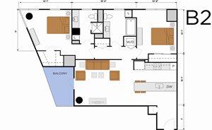 B2 - Two Bedroom w/ Balcony