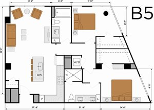 B5 - Two Bedroom Penthouse
