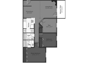 Birch Floorplan at Brookdale on the Park, Naperville, IL 60563