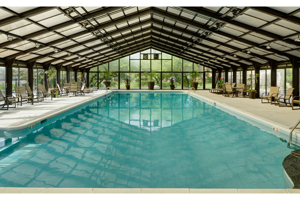 Convertible Indoor and Outdoor Pool with Retractable Roof at Brookdale on the Park, Naperville, IL, 60563