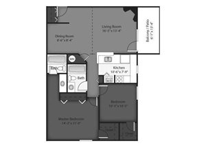 Pine Floorplan at Brookdale on the Park, Naperville, IL 60563