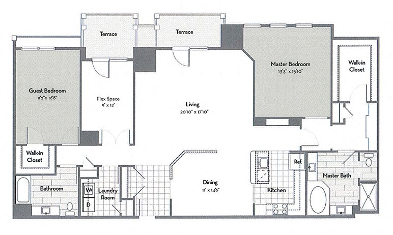 Penthouse C7-M Floor Plan 7