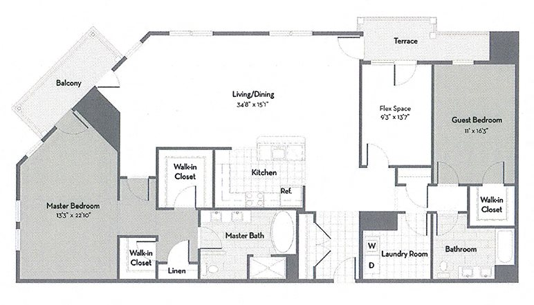 Penthouse C8-M Floor Plan 9