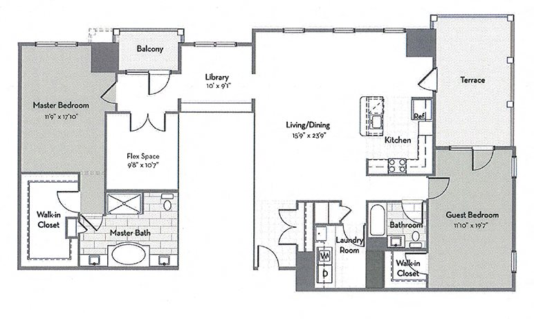 Penthouse C9-M Floor Plan 10