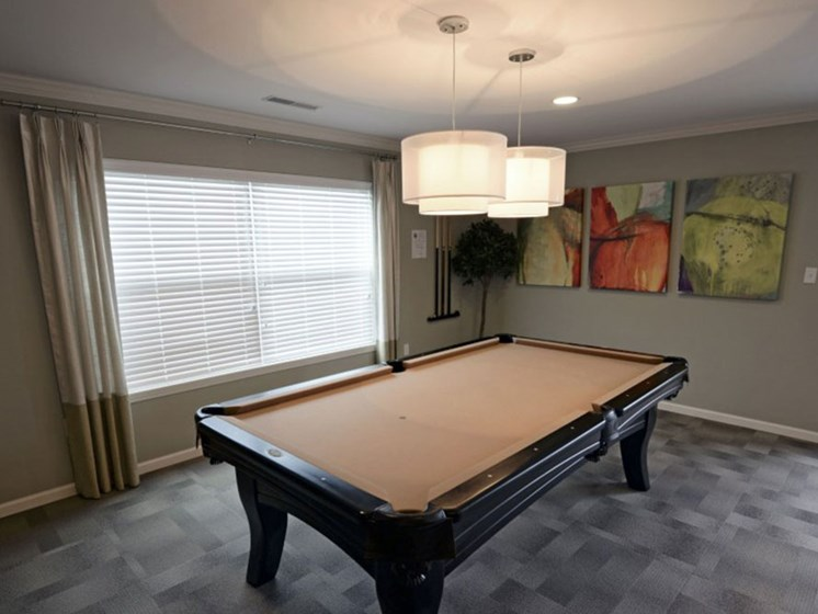 Clubhouse Pool Table at Covington Square, Indiana