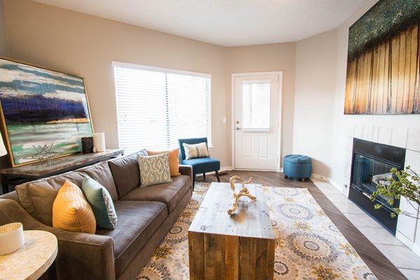 Spacilous Livingrooms with Fireplace at Ashford Belmar, 80226