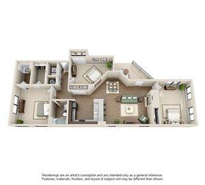 Gramercy Floorplan at Ashford Belmar