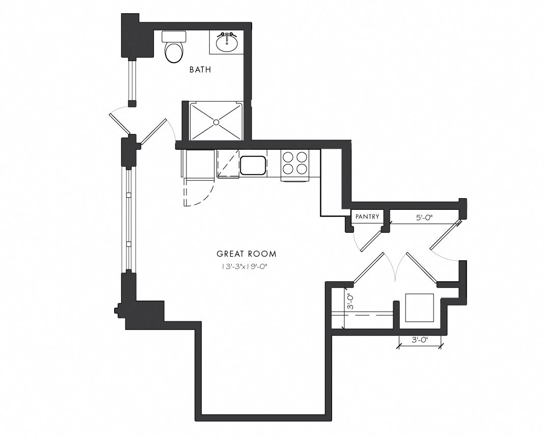 Residence C - Studio Floor Plan 1