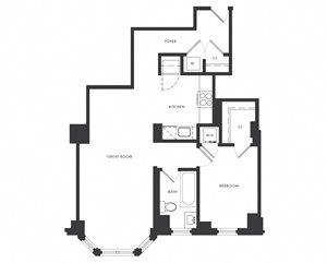 Residence B1 - 1 Bedroom