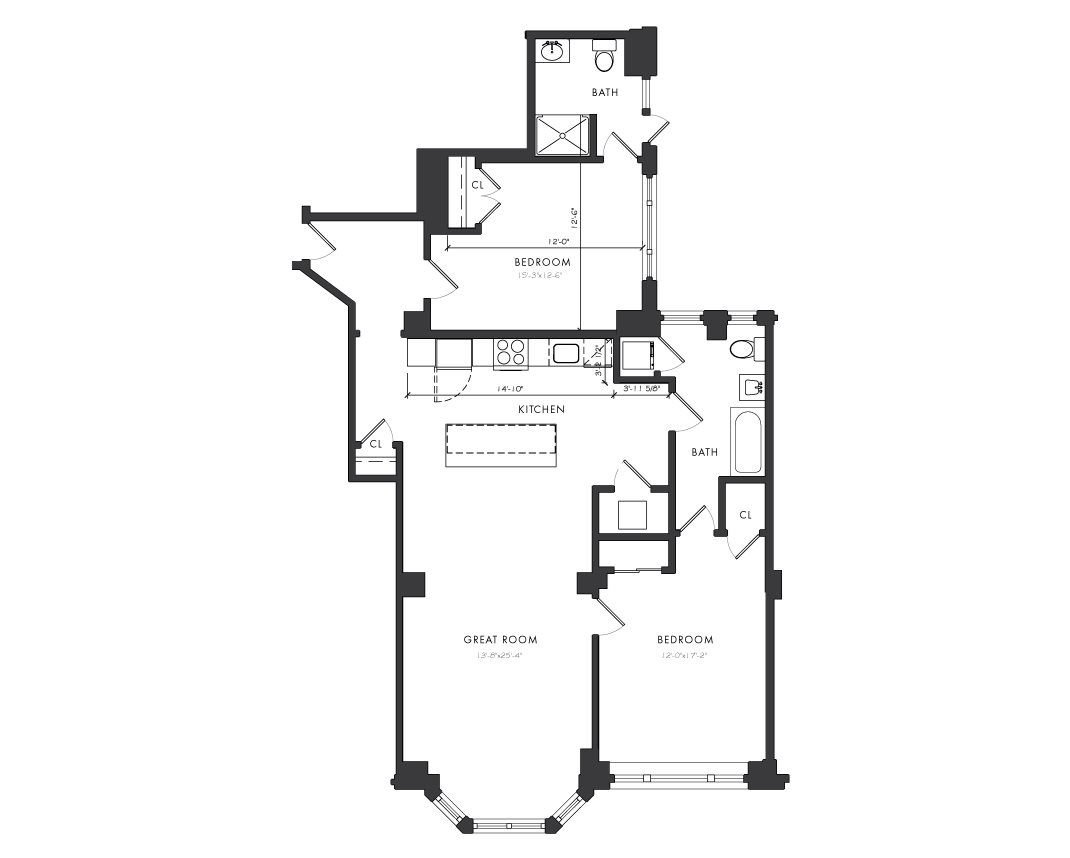 Residence D - 2 Bedroom Floor Plan 7