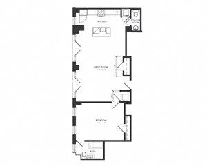 Residence G - 1 Bedroom Premium