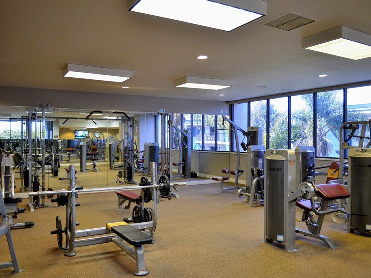 Fully Equipped Fitness Center at Madison Park Apartment Homes, 2235 W Broadway, CA