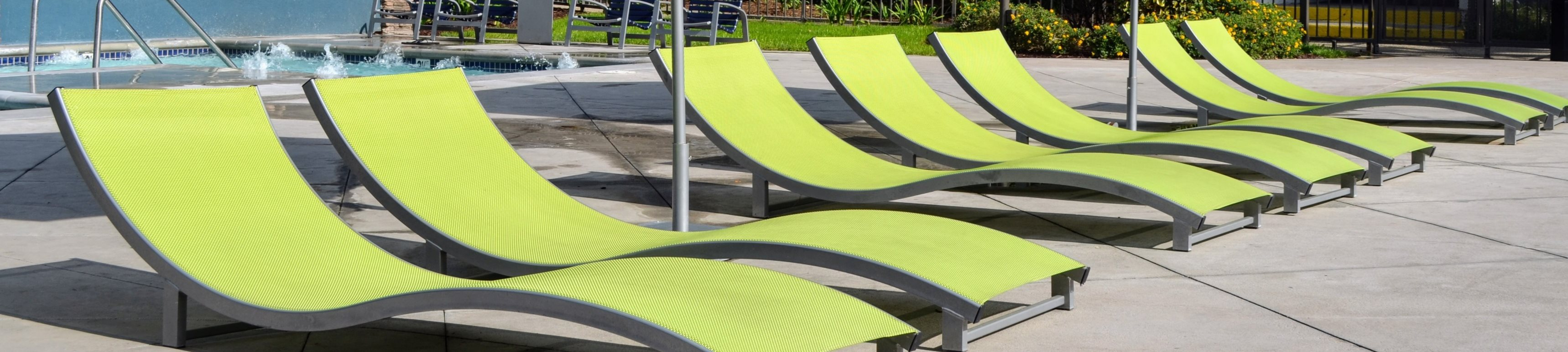 Poolside Sundeck and Grilling Area at Madison Park Apartment Homes, Anaheim, 92804