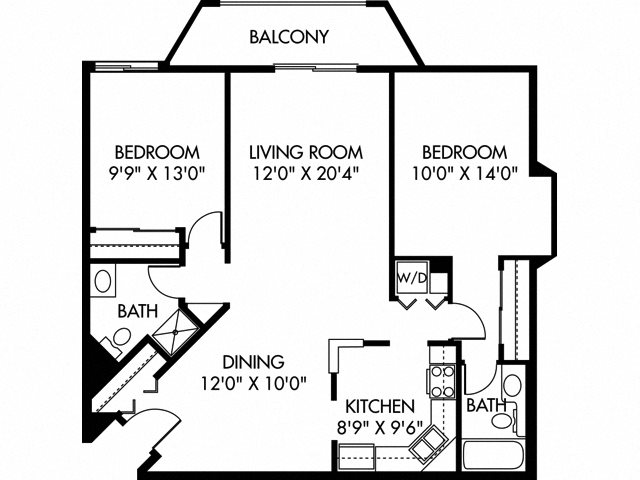 Calhoun (Dog Friendly Unit) Floor Plan 14