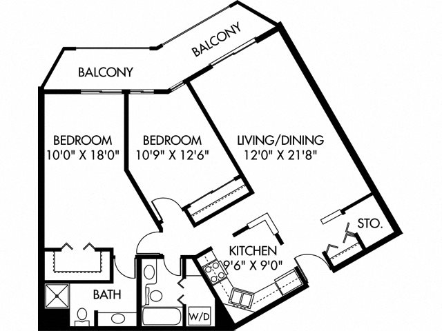 East Twin (Dog Friendly Unit) Floor Plan 15