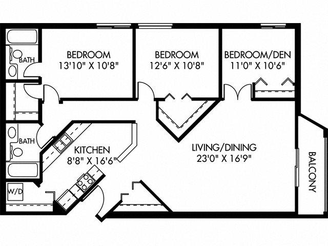 Dunbar (10 Building) Floor Plan 20