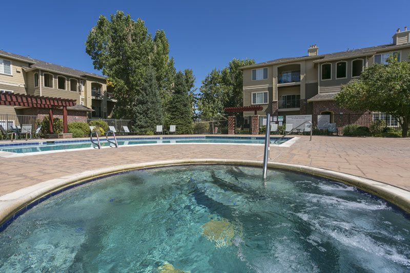 Heated spa  at Ranchstone, Parker, CO,80134