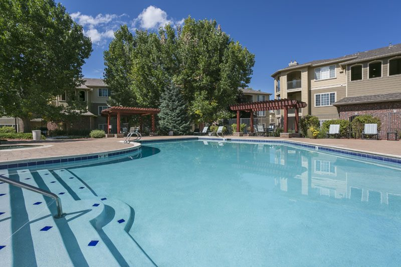 Resort-style Pool with Sundeck at Ranchstone, 80134