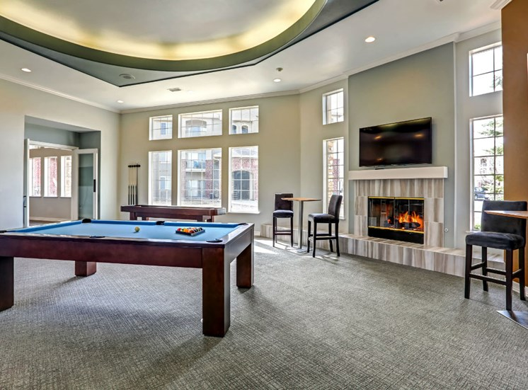 Clubhouse With Billiards Table at Ranchstone Apartments, 17125 E Carlson Drive, Parker, 80134