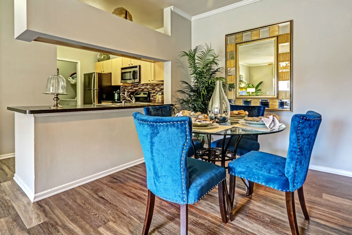 Gourmet Kitchen with Breakfast Bar and Pantry at Ranchstone Apartments, 17125 E Carlson Drive