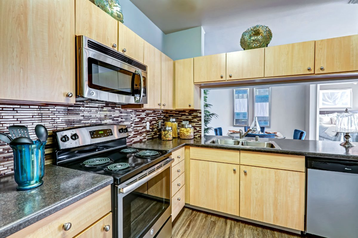 Gourmet Kitchens with Dishwasher and Disposal at Ranchstone Apartments, 17125 E Carlson Drive, CO