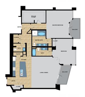B3 | Two Bedroom