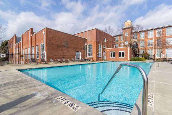Pool at Canton Mill Lofts Apartments in Canton, GA