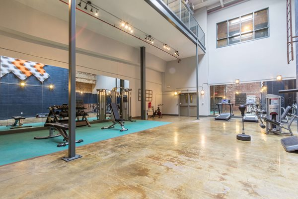 Gym at Canton Mill Lofts Apartments in Canton, GA