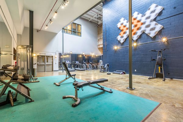 Fitness Center at Canton Mill Lofts Apartments in Canton, GA