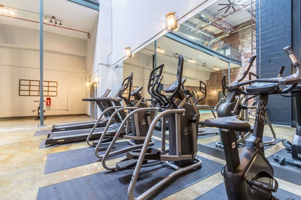 Cardio Equipment at Canton Mill Lofts Apartments in Canton, GA